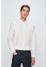Premium by Jack&Jones - Koszula. Typ kołnierza: button down. Kolor: biały. Materiał: tkanina