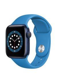 Niebieski zegarek APPLE smartwatch, sportowy