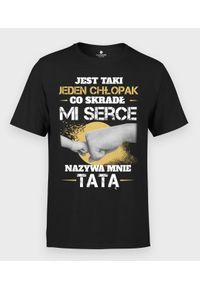 MegaKoszulki - Koszulka męska Skradł mi serce. Materiał: bawełna