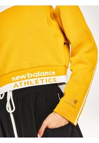 New Balance Bluza Athletic Select Boxy WT01500 Żółty Relaxed Fit. Kolor: żółty