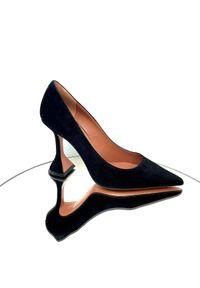 AMINA MUADDI - Czarne szpilki Ami. Kolor: czarny. Obcas: na szpilce. Styl: klasyczny. Wysokość obcasa: średni