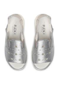 Srebrne sandały The FLEXX casualowe, na co dzień
