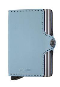 Secrid - Portfel skórzany. Kolor: niebieski. Materiał: skóra
