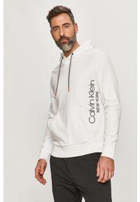 Biała bluza nierozpinana Calvin Klein z kapturem, na co dzień