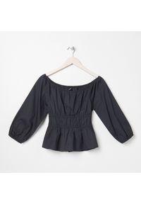 Sinsay - Bluzka z odkrytymi ramionami - Czarny. Kolor: czarny