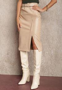 Renee - Beżowa Spódnica Phelliore. Kolor: beżowy. Styl: klasyczny, elegancki