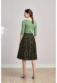 Marie Zélie - Bluzka Ribolla zieleń wiosenna. Materiał: bawełna, dzianina, materiał, elastan, skóra. Sezon: wiosna