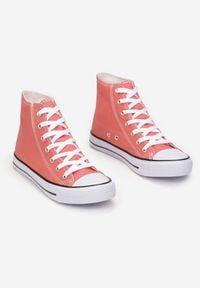 Renee - Pomarańczowe Trampki Kelapheu. Nosek buta: okrągły. Zapięcie: sznurówki. Kolor: pomarańczowy. Materiał: materiał, guma. Szerokość cholewki: normalna. Wzór: aplikacja. Obcas: na płaskiej podeszwie. Styl: klasyczny #2