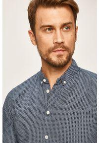 Niebieska koszula Blend długa, na co dzień, button down