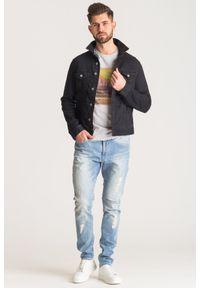 Szary t-shirt Trussardi Jeans z nadrukiem