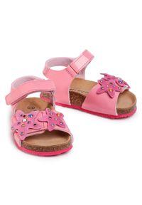 Różowe sandały Sergio Bardi Young z aplikacjami