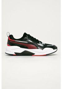 Czarne sneakersy Puma z cholewką, na sznurówki