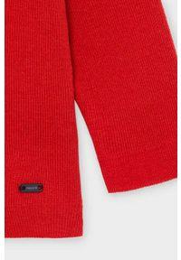 Czerwony sweter Mayoral na co dzień, raglanowy rękaw, casualowy
