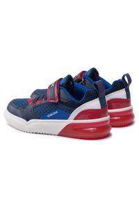 Geox - Sneakersy GEOX - J Grayjay B. D J159YD 014BU C0735 S Navy/Red. Okazja: na co dzień. Zapięcie: rzepy. Kolor: niebieski. Materiał: skóra ekologiczna, materiał. Szerokość cholewki: normalna. Styl: casual
