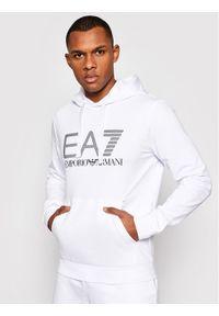 EA7 Emporio Armani Bluza 3KPM62 PJ05Z 1100 Biały Regular Fit. Kolor: biały