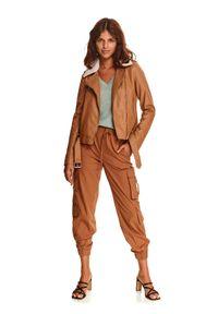 TOP SECRET - Ramoneska ze skóry ekologicznej. Materiał: skóra ekologiczna. Długość rękawa: długi rękaw. Długość: krótkie. Sezon: jesień