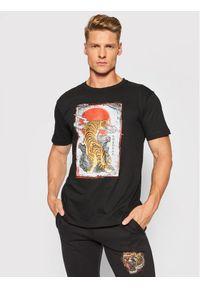 Togoshi T-Shirt Tiger Czarny Regular Fit. Kolor: czarny