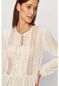 Biała bluzka Haily's z długim rękawem, długa, na co dzień, casualowa