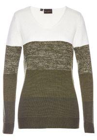 Biały sweter bonprix długi