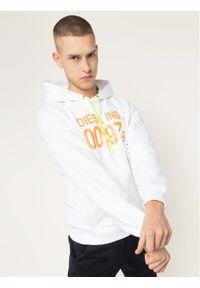 Diesel Bluza S-Girk-Hood 00SAUN 0IAJH Biały Regular Fit. Kolor: biały