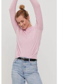 Vero Moda - Sweter. Okazja: na co dzień. Kolor: różowy. Materiał: dzianina. Długość rękawa: raglanowy rękaw. Styl: casual