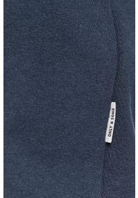 Niebieska bluza nierozpinana Only & Sons z kapturem, na co dzień