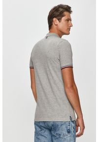 Szara koszulka polo Tommy Hilfiger Tailored polo, casualowa, na co dzień, krótka