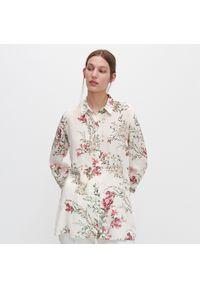 Kremowa koszula Reserved w kwiaty
