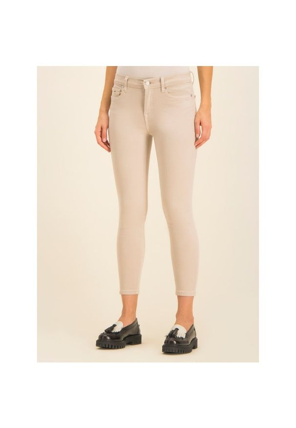 Beżowe jeansy slim Tommy Jeans