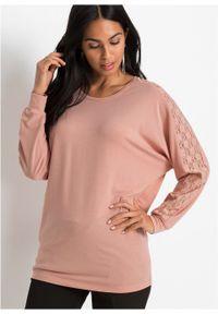 Różowa bluzka bonprix retro