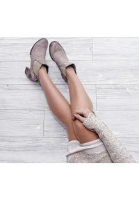Botki Zapato na co dzień, na jesień, w kolorowe wzory