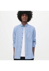 Niebieska koszula Reserved w kropki