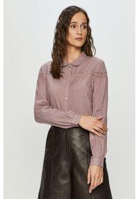 Fioletowa koszula Jacqueline de Yong na co dzień, z długim rękawem