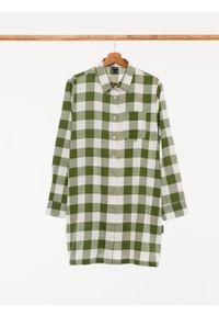 outhorn - Długa koszula w kratę damska. Okazja: na co dzień. Materiał: bawełna, tkanina. Długość rękawa: długi rękaw. Długość: długie. Styl: casual