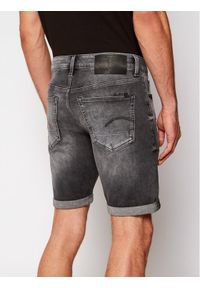 G-Star RAW - G-Star Raw Szorty jeansowe 3301 D17418-A634-B429 Szary Slim Fit. Kolor: szary. Materiał: jeans
