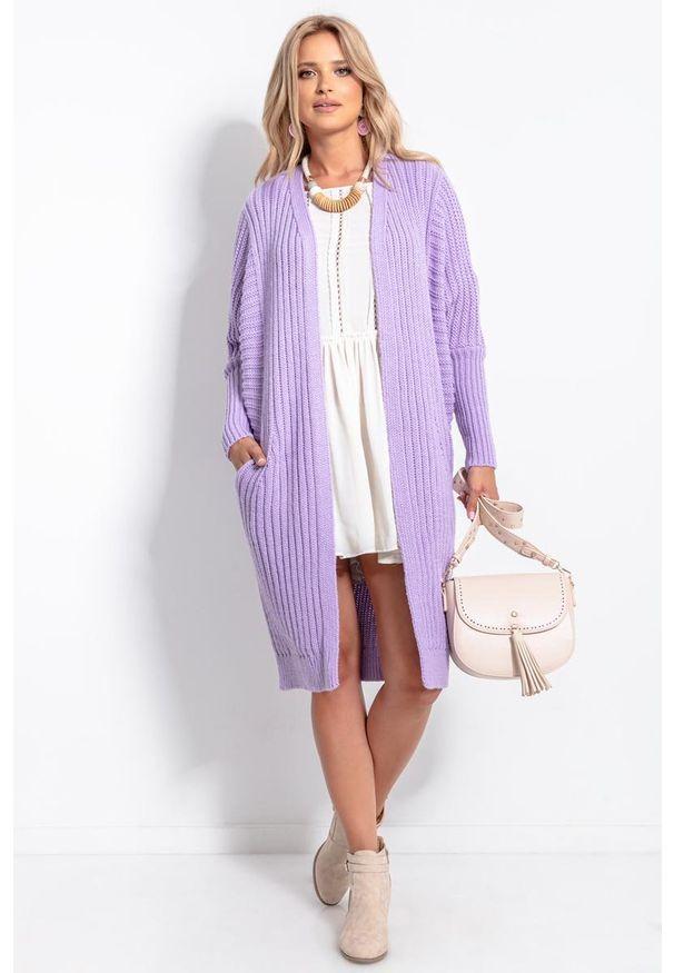Fioletowy sweter Fobya długi