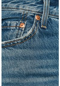 Niebieskie proste jeansy Levi's® z podwyższonym stanem, na spotkanie biznesowe, biznesowe