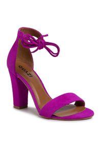 Fioletowe sandały QUAZI na co dzień, casualowe