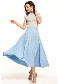 Niebieska spódnica rozkloszowana Tessita