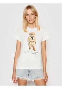 Polo Ralph Lauren T-Shirt Ssl 211839165001 Biały Straight Fit. Typ kołnierza: polo. Kolor: biały