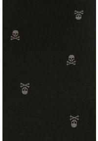 Czarna bluza nierozpinana John Frank na co dzień, casualowa, bez kaptura