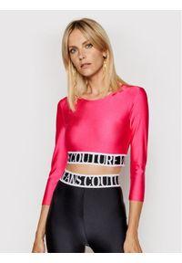 Versace Jeans Couture Bluzka 71HAH218 Różowy Regular Fit. Kolor: różowy
