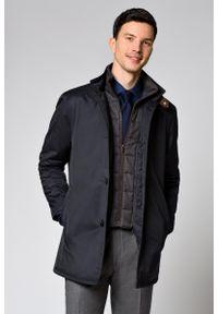 Niebieska kurtka Lancerto na co dzień, casualowa, w kolorowe wzory