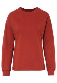 Bluza dresowa bonprix czerwony karminowy. Kolor: czerwony. Materiał: dresówka. Styl: klasyczny
