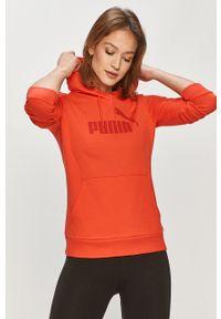 Czerwona bluza Puma na co dzień, casualowa, z kapturem