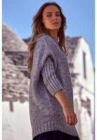 Szary sweter oversize MOE melanż