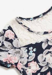 Born2be - Granatowa Sukienka Thalali. Kolor: niebieski