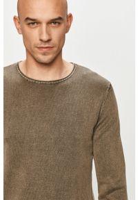 Oliwkowy sweter Jack & Jones na co dzień, casualowy