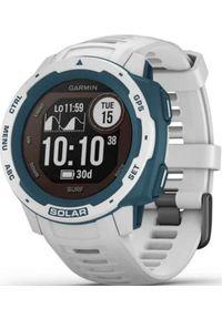 GARMIN - Zegarek sportowy Garmin Instinct Solar Surf Biało-niebieski (010-02293-08). Kolor: niebieski, biały, wielokolorowy. Styl: sportowy