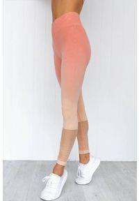 Pomarańczowe legginsy IVET casualowe, na co dzień